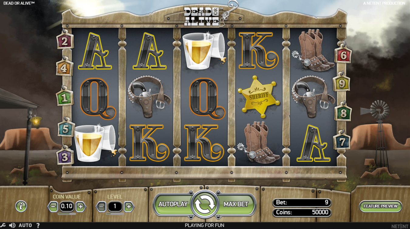 slot dead or alive screenshot